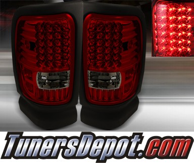 TD® LED Tail Lights (Red/Smoke) - 94-01 Dodge Ram Pickup