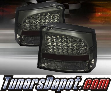 TD® LED Tail Lights (Smoke) - 06-08 Dodge Charger