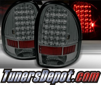 TD® LED Tail Lights (Smoke) - 96-00 Dodge Caravan