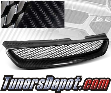 TD® Mesh Front Grill Grille (Carbon) - 98-02 Honda Accord 2dr (TR Style)