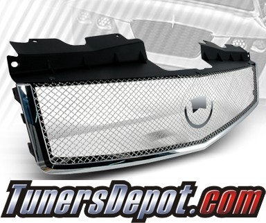 TD® Mesh Front Grill Grille (Chrome) - 03-07 Cadillac CTS (Incl CTS-V)