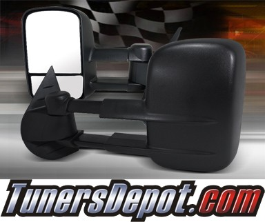 TD® Power Extending Towing Side View Mirrors (Black) - 07-12 Chevy Silverado