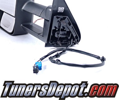 TD® Power Extending Towing Side View Mirrors (Black) - 2007 Chevy Silverado Classic