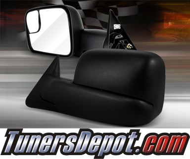 TD® Power Extending Towing Side View Mirrors (Black) - 94-97 Dodge Ram Pickup