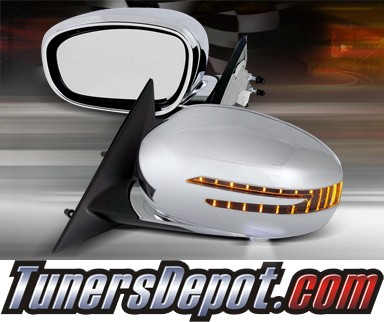 TD® Power Folding Side View Mirrors (Chrome) - 06-10 Dodge Charger (With LED Signal Lights)
