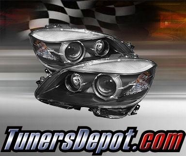 TD® Projector Headlights (Black) - 08-11 Mercedes Benz C300 4dr W204