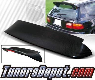 TD Rear Roof Spoiler Wing (Carbon) - 92-95 Honda Civic 3dr