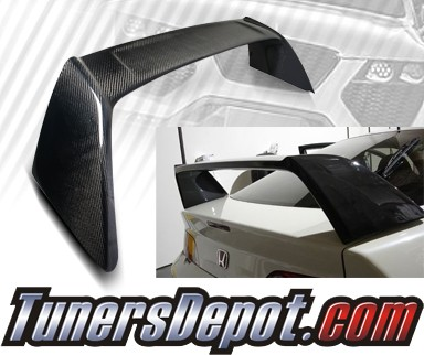 TD Rear Spoiler Wing (Carbon) - 02-06 Acura RSX RS-X (TR Style)