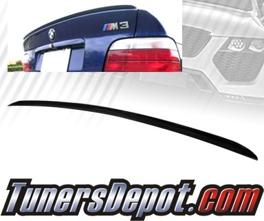 TD Rear Trunk Lip Spoiler Wing - 92-96 BMW 318i 4dr E36