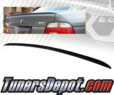 TD Rear Trunk Lip Spoiler Wing - 99-00 BMW 528i 4dr E39
