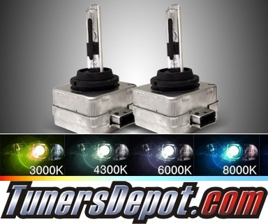 TD® Stock OEM HID Replacement D3S Bulbs (6000K Super White) - Universal (Pair)