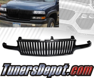 TD® Vertical Front Grill Grille (Black) - 99-02 Chevy Silverado