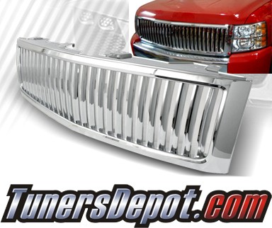 TD® Vertical Front Grill Grille (Chrome) - 07-10 Chevy Silverado