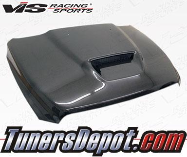 vis srt style carbon fiber hood 09 15 dodge ram 1500. Black Bedroom Furniture Sets. Home Design Ideas