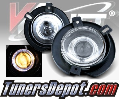 WINJET® Halo Projector Fog Light Kit (Clear) - 02-05 Ford Explorer (OEM Replacement Only)