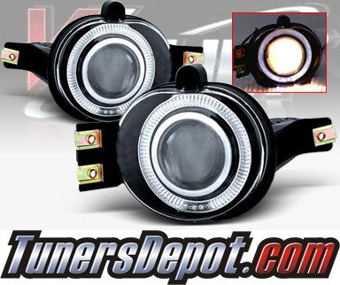 WINJET® Halo Projector Fog Light Kit (Clear) - 04-06 Dodge Durango (OEM Replacement Only)