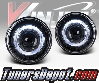 WINJET® Halo Projector Fog Light Kit (Clear) - 04-07 Jeep Grand Cherokee (OEM Replacement Only)