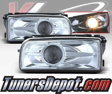 WINJET® Halo Projector Fog Light Kit (Clear) - 96-99 BMW 328ic Convertible E36 3 Series (OEM Replacement Only)