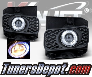 WINJET® Halo Projector Fog Light Kit (Clear) - 99-03 Ford F-150 F150 (OEM Replacement Only)
