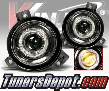 WINJET® Halo Projector Fog Light Kit (Smoke) - 01-03 Ford Ranger (OEM Replacement Only)