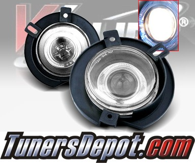 WINJET® Halo Projector Fog Light Kit (Smoke) - 02-05 Ford Explorer (OEM Replacement Only)