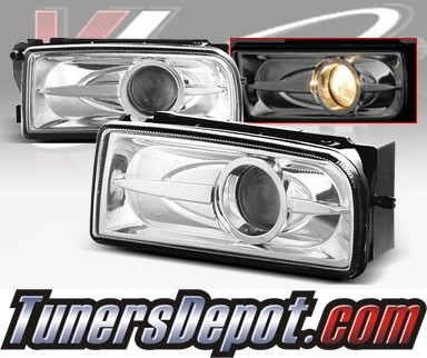 WINJET® Halo Projector Fog Light Kit (Smoke) - 96-99 BMW 328is Convertible E36 3 Series (OEM Replacement Only)
