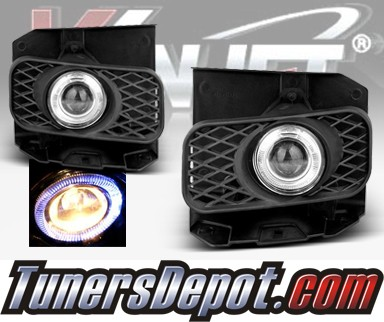 WINJET® Halo Projector Fog Light Kit (Smoke) - 99-03 Ford F-150 F150 (New Install Only)