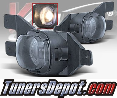 WINJET® Halo Projector Fog Light Kit (Smoke) - 99-04 Ford F-350 F350 (OEM Replacement Only)