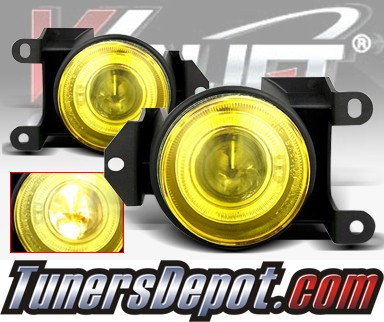WINJET® Halo Projector Fog Light Kit (Yellow) - 00-06 GMC Yukon Denali (OEM Replacement Only)