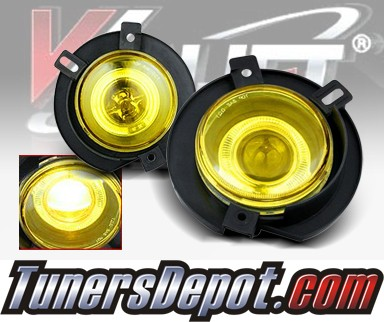 WINJET® Halo Projector Fog Light Kit (Yellow) - 02-05 Ford Explorer (OEM Replacement Only)