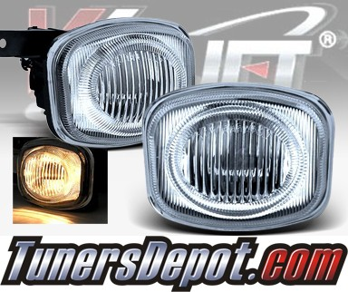 WINJET® OEM Style Fog Light Kit (Clear) - 00-02 Mitsubishi Eclipse (OEM Replacement Only)