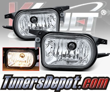 WINJET® OEM Style Fog Light Kit (Clear) - 01-05 Mercedes Benz C230 W203 C Class (OEM Replacement Only)