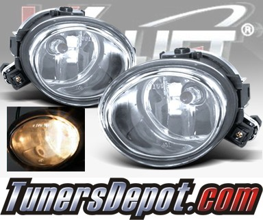 WINJET® OEM Style Fog Light Kit (Clear) - 02-05 BMW 330xi 4dr Sedan 3 Series E46 Facelift (OEM Replacement Only)