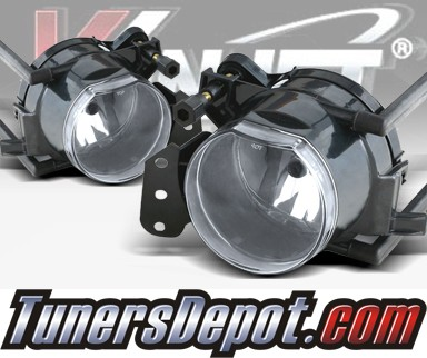 WINJET® OEM Style Fog Light Kit (Clear) - 04-09 BMW 535i 5 Series E60 (OEM Replacement Only)