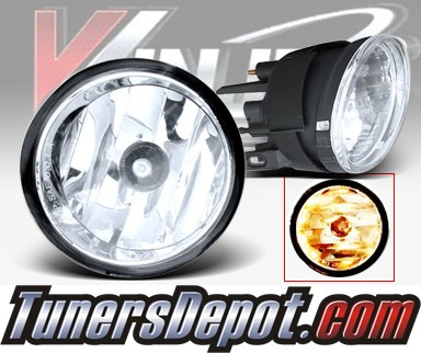 WINJET® OEM Style Fog Light Kit (Clear) - 04-11 Nissan Titan (OEM Replacement Only)