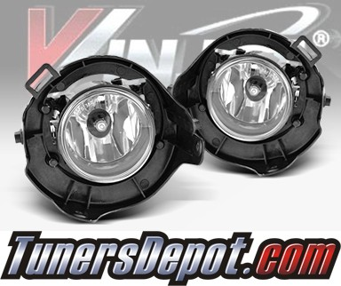 WINJET® OEM Style Fog Light Kit (Clear) - 05-09 Nissan Frontier (w/o Chrome Bumper) (OEM Replacement Only)