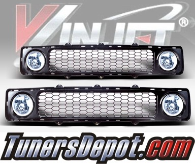 WINJET® OEM Style Fog Light Kit (Clear) - 05-10 Scion Tc (includes Grill) (OEM Replacement Only)