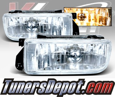 WINJET® OEM Style Fog Light Kit (Clear) - 96-99 BMW 328is Convertible E36 3 Series (OEM Replacement Only)