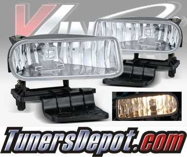 WINJET® OEM Style Fog Light Kit (Clear) - 99-02 Chevy Silverado (OEM Replacement Only)