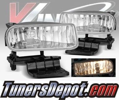 WINJET® OEM Style Fog Light Kit (Smoke) - 00-06 Chevy Suburban (OEM Replacement Only)