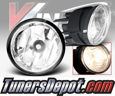 WINJET® OEM Style Fog Light Kit (Smoke) - 04-11 Nissan Titan (OEM Replacement Only)