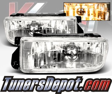 WINJET® OEM Style Fog Light Kit (Smoke) - 96-99 BMW 328i Convertible E36 3 Series (OEM Replacement Only)