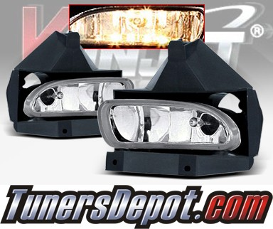 WINJET® OEM Style Fog Light Kit (Smoke) - 99-04 Ford Mustang (OEM Replacement Only)