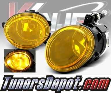 WINJET® OEM Style Fog Light Kit (Yellow) - 02-05 BMW 330i 4dr Sedan 3 Series E46 Facelift (OEM Replacement Only)