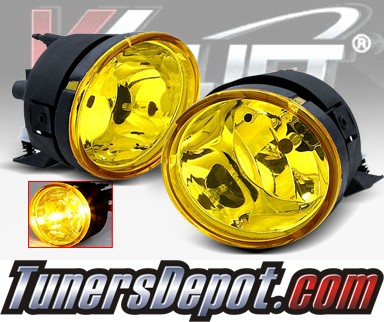 WINJET® OEM Style Fog Light Kit (Yellow) - 04-11 Nissan Titan (OEM Replacement Only)