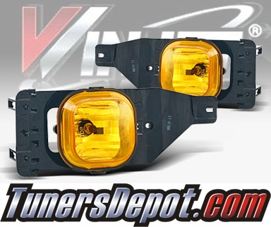 WINJET® OEM Style Fog Light Kit (Yellow) - 05-07 Ford F-250 F250 (OEM Replacement Only)