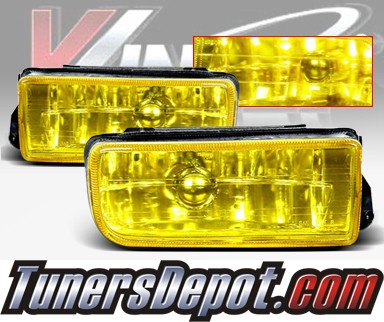 WINJET® OEM Style Fog Light Kit (Yellow) - 96-99 BMW 328is Convertible E36 3 Series (OEM Replacement Only)