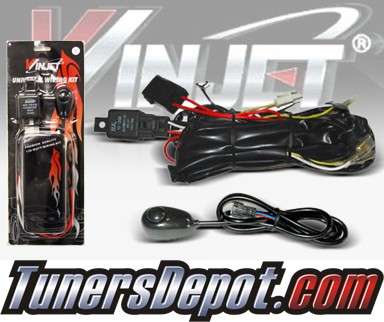 WINJET® Universal Fog Light Wiring Kit and Switch - Universal ( Need light bulb harnesses)