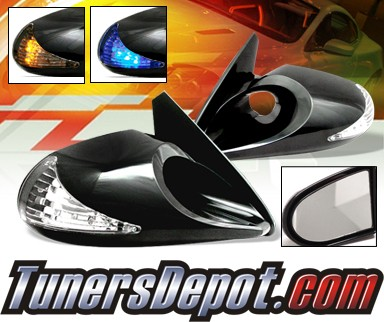 X3® Manual M3 Side View Mirrors ONLY -(Amber or Blue Signal)(NO BASE PLATES)