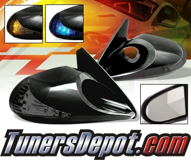 X3® Manual M3 Side View Mirrors ONLY - Amber or blue signal SMOKE (NO BASE PLATES)